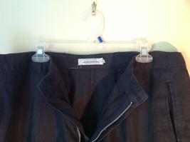 Dark Navy Blue Europann Size 50 Dress Pants 100 Percent Linen image 3
