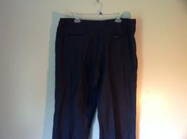 Dark Navy Blue Europann Size 50 Dress Pants 100 Percent Linen image 5