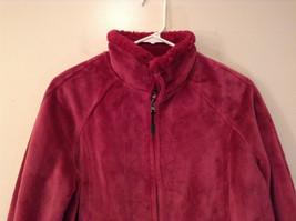Dark Pink Size S Faux Fur Jacket Front Pockets Front Zipper Closure Green Tea image 3