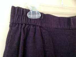 Dark Purple Corduroy Button Up Skirt Angle Length Pleated Pockets NO TAG Size 16 image 6