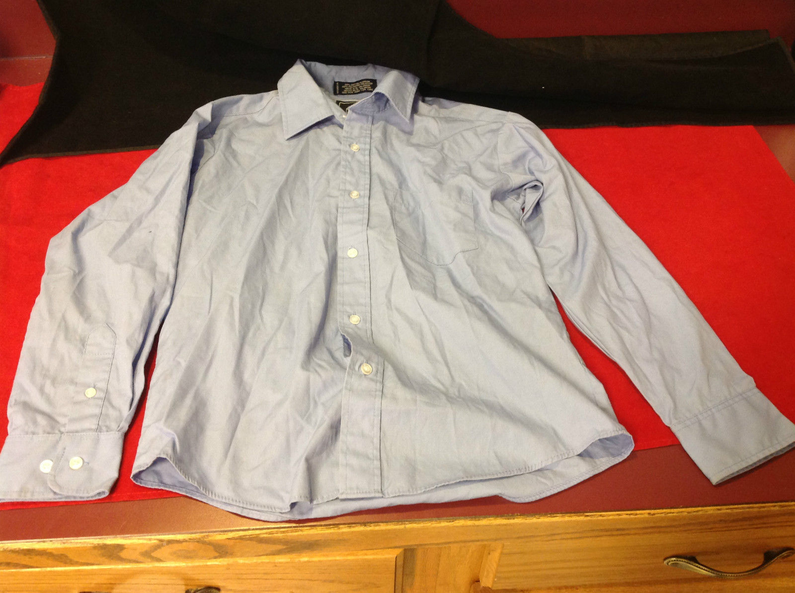 Dockers Light Blue Ladies Shirt Button Front Size 12 Very Good Condition