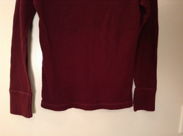 Dark Red American Eagle Outfitters Long Sleeve 100 Percent Cotton Top Size M image 6