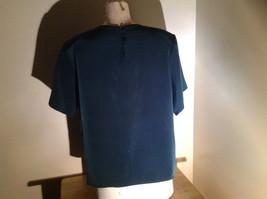 Dark Teal Short Sleeve Shirt Buttons at Back Neckline Jack Mulqueen Size Large image 6