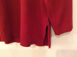 Dark Red Cowl Neck Sweater East 5th Size 1X Slits on Side 100 Percent Acrylic image 3