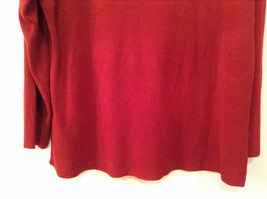 Dark Red Cowl Neck Sweater East 5th Size 1X Slits on Side 100 Percent Acrylic image 5