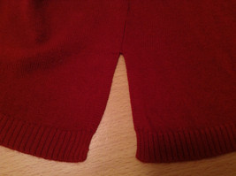 Dark Red Cowl Neck Sweater East 5th Size 1X Slits on Side 100 Percent Acrylic image 8