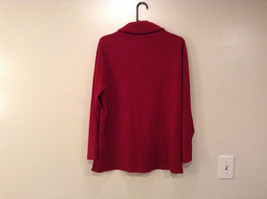 Dark Red Cowl Neck Sweater East 5th Size 1X Slits on Side 100 Percent Acrylic image 2