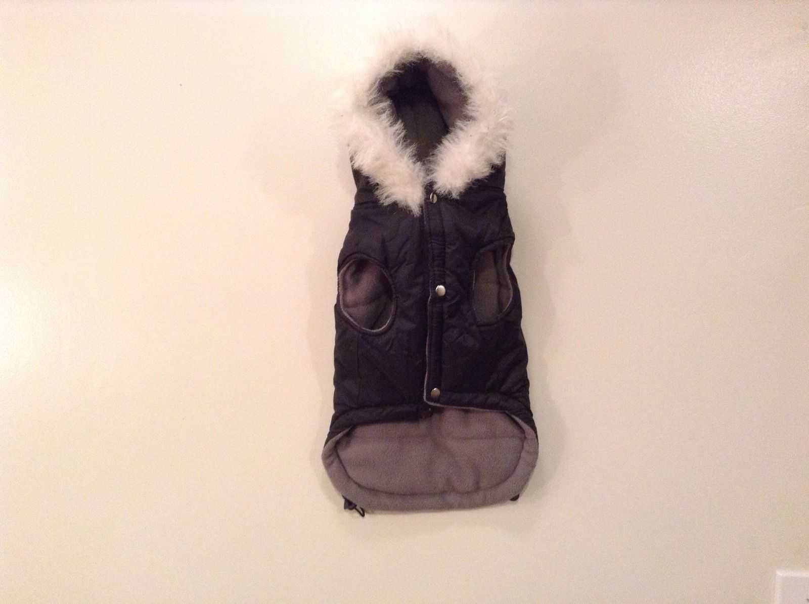 Dog It Black Winter Coat For Large Dog, Warm, Snowflakes