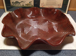 Decorative Large Brown Handmade Serving tray Geometric Designs for chicken meats image 2