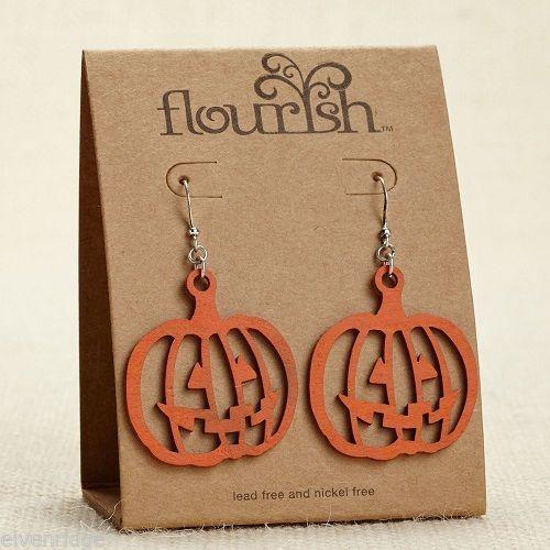 Fashion earrings filigree Orange Pumpkins   Flourish
