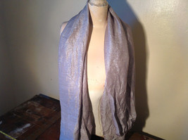 Fancy Gray Sparkly Limited Edition Scarf 72 Inches Long 28 Inches Wide
