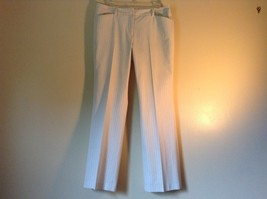 Doncaster Size 10P White Pinstriped Casual Dress Pants Front and Back Pockets