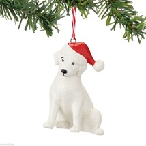 Fetch the Spirit Cute Retriever  Dog ornament ceramic stoneware NEW