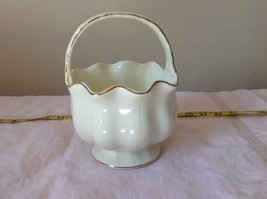 Fine Porcelain European Home Decoration by JS Imports Glass Creamy White Basket - $44.54