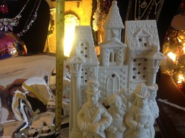 Dickens Partylite tea or votive light candle holder in ivory bisque vintage image 5