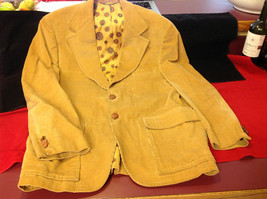 Felix Kozak Ladies Light Brown Corduroy Blazer 2 Button Front Size 23 Inch W
