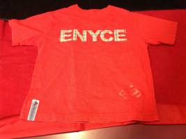 ENYCE on front in Big Letters  Red T-Shirt Size 5 16 Inch W 18 Inch L