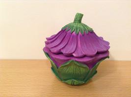 Department 56 Garden Guardian Violet Flower Trinket Box w Small Fairy Inside image 3