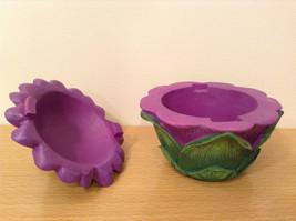 Department 56 Garden Guardian Violet Flower Trinket Box w Small Fairy Inside image 8