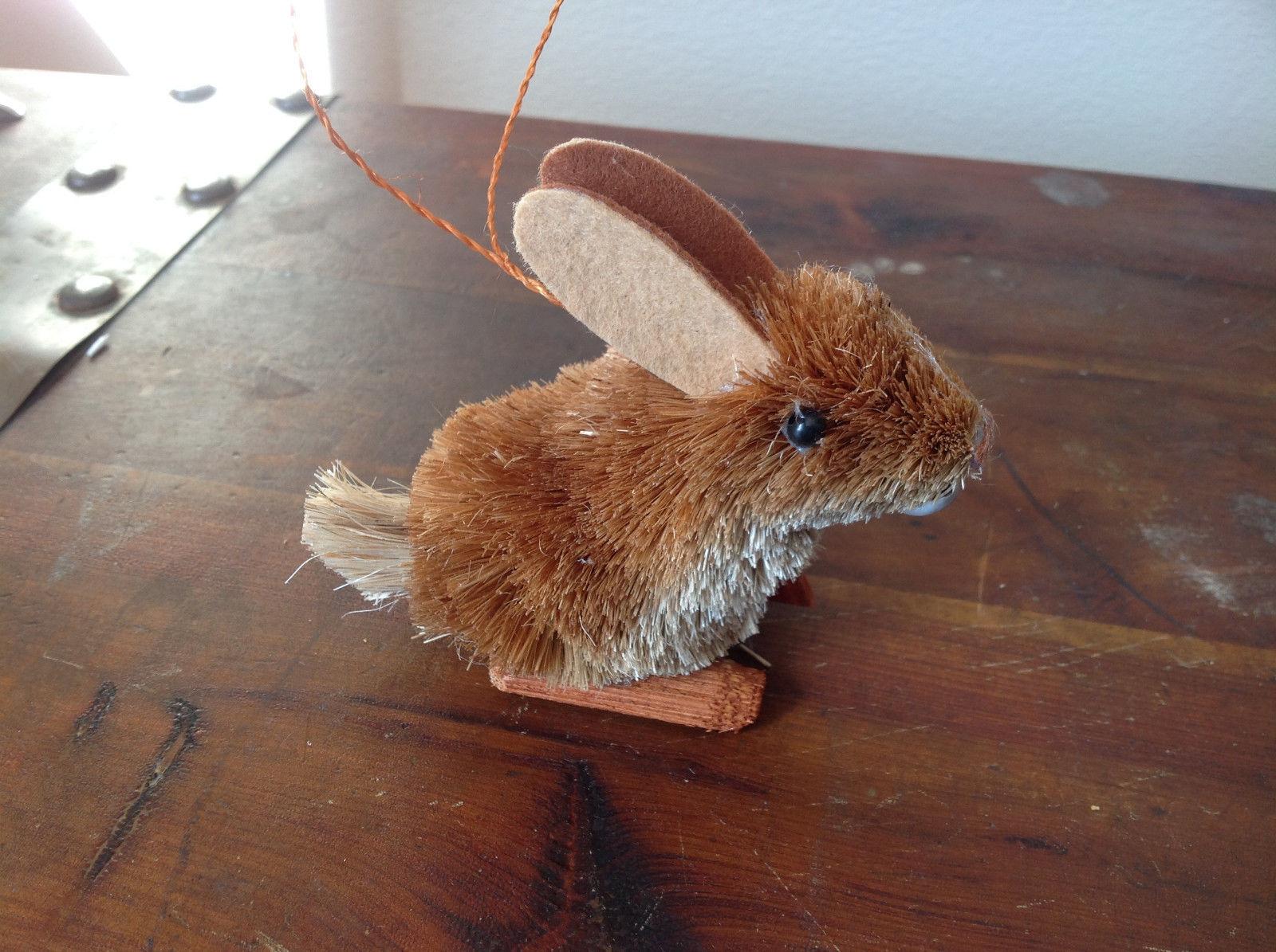 Eco-Fiber Sustainable Buri Palm Fiber Brush Rabbit Ornament Made in Philippines