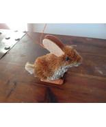 Eco-Fiber Sustainable Buri Palm Fiber Brush Rabbit Ornament Made in Phil... - $39.99