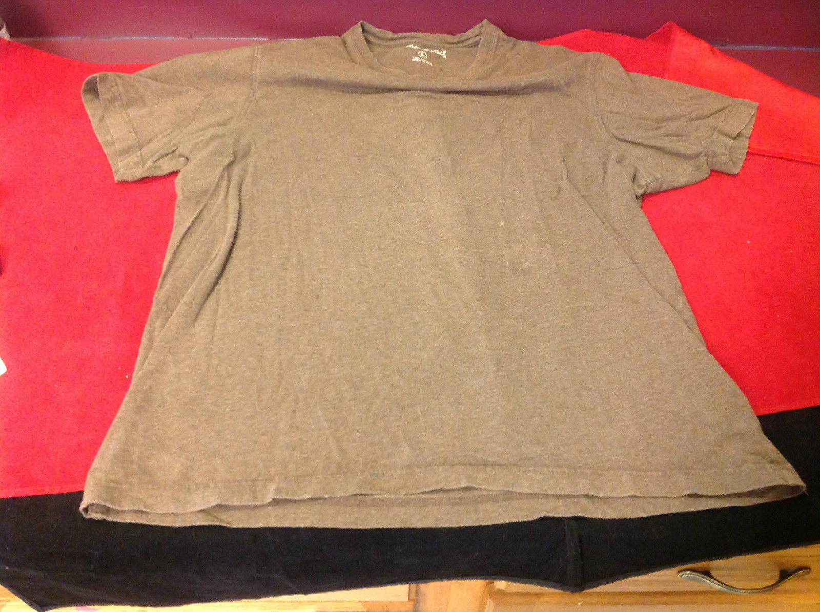 Eddie Bauer Brown 100% Cotton Short Sleeve T-Shirt Size Large