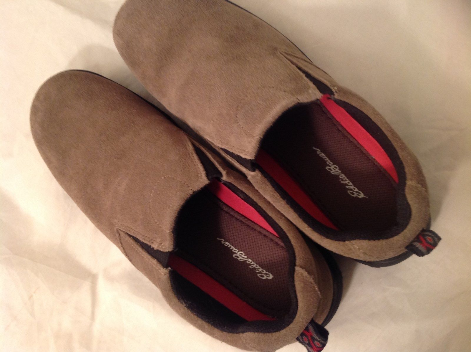 Eddie Bauer Brown Suede Like Material Casual Slip On Shoes Size 5 US Rubber Sole