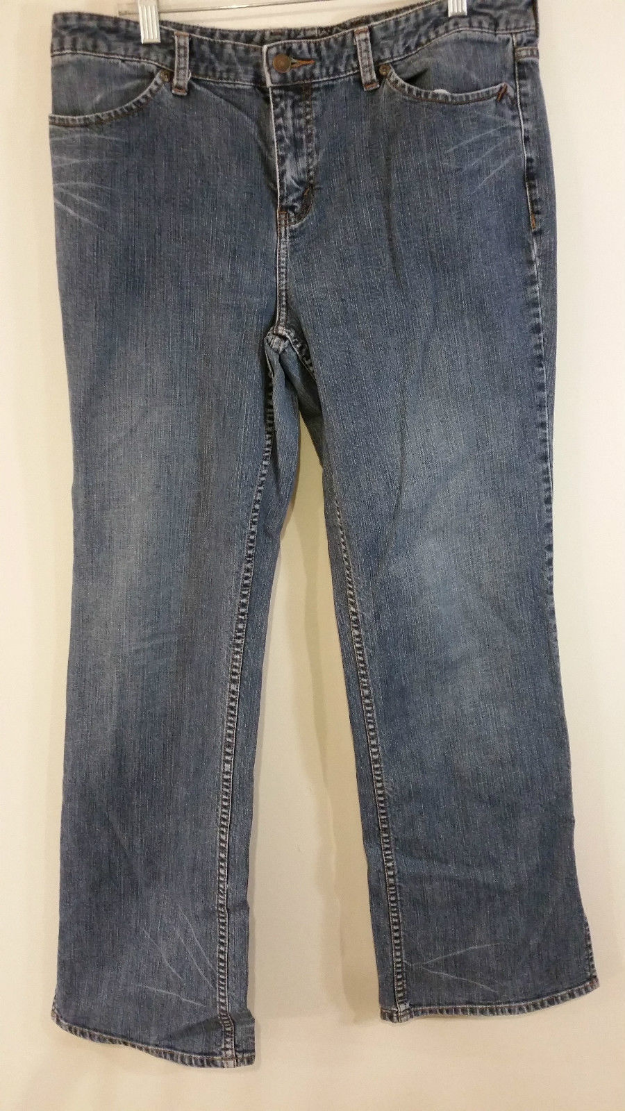 Eddie Bauer Dark Blue Stretch Jeans Front and Back Pockets Size 14