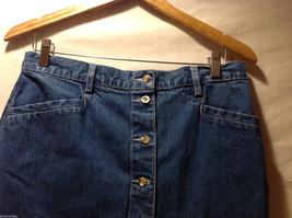 Eddie Bauer Jean 100% Cotton Medium Blue Wash Knee length Skirt, Size 14 Tall