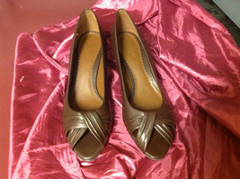 East 5th Ladies Brown Open Toe Heels with 3 Inch Heel All Man Made Size 8.5