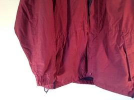 EMS Burgundy Zipper Closure Hood Hiking Camping Jacket Size XL 3 Front Pockets image 5