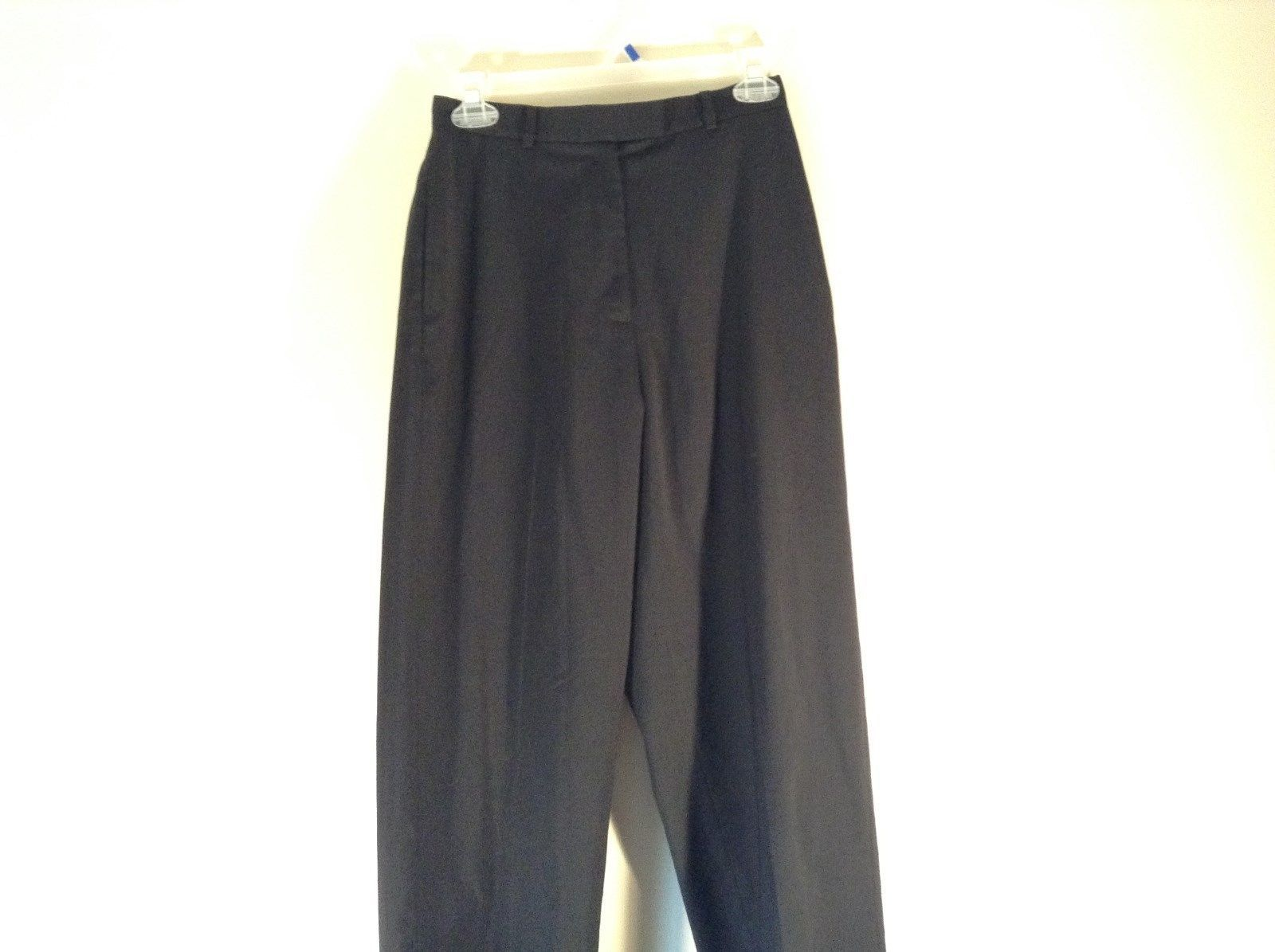 Eddie Bauer Size 4 Black Dress Pants Wool Blend Lined Excellent Condition