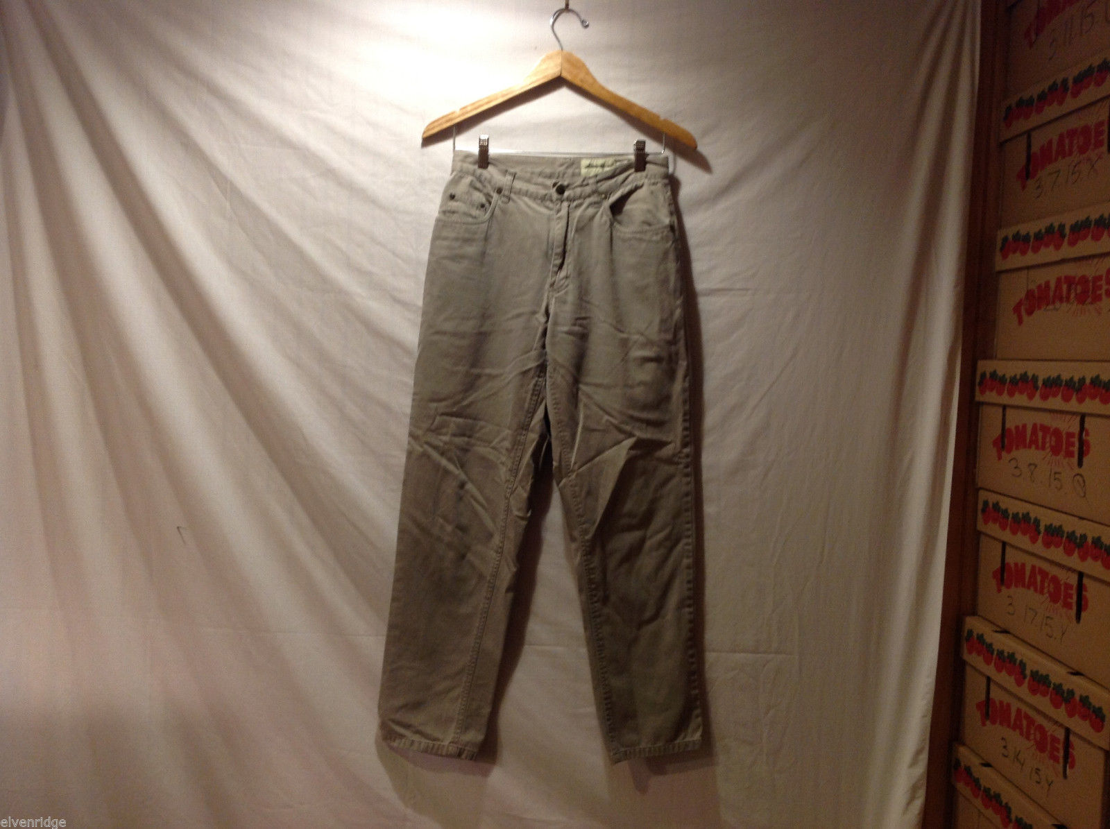 Eddie Bauer Womens 100% Cotton Beige Gray Jeans Pants, Size 6