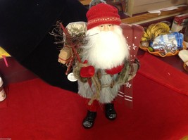 Department 56 Tall Collector's Santa embellished red winter w skis boots snow image 2