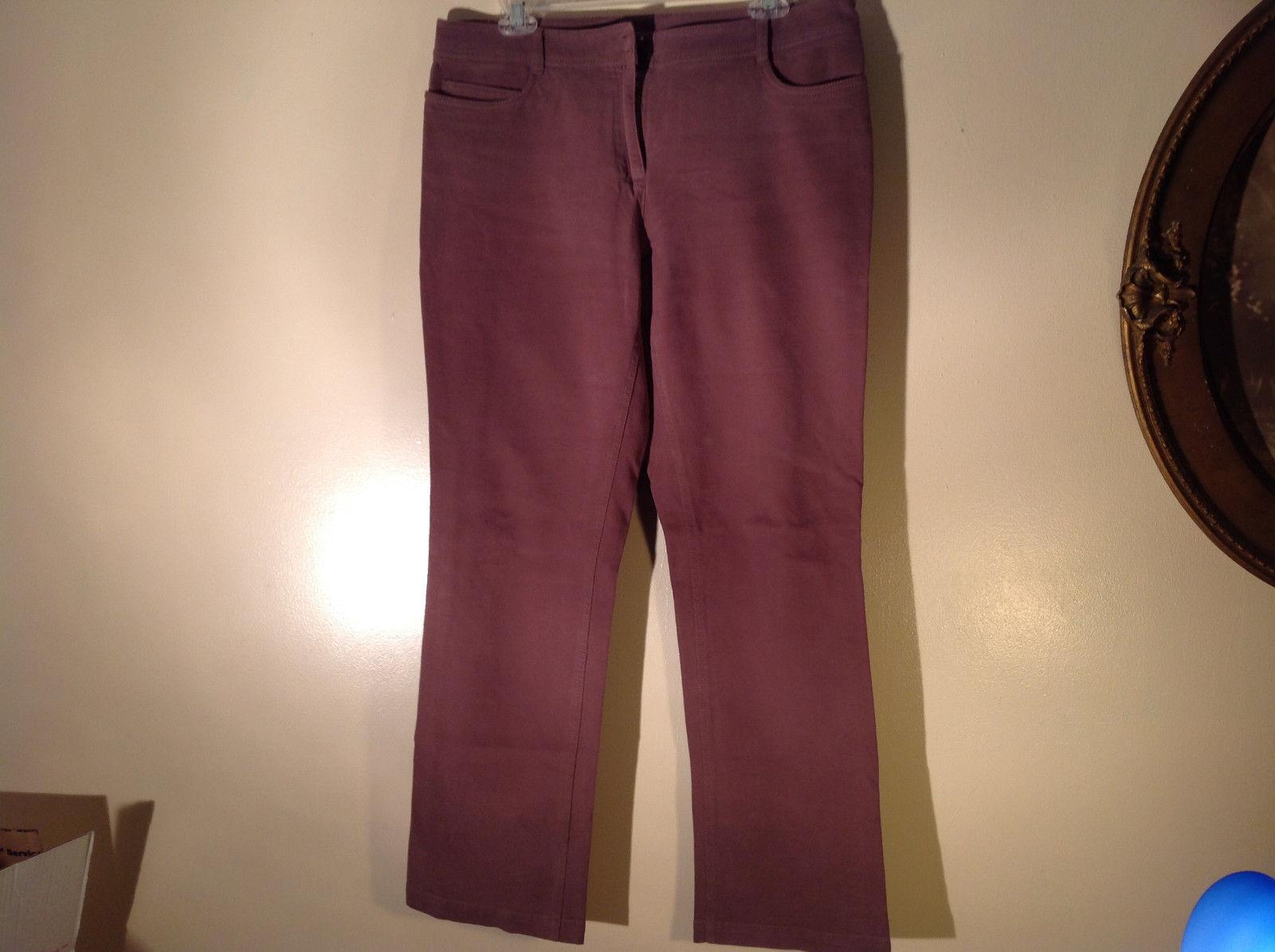 Eileen Fisher Size Medium Gentle Brown Pants Nice Fabric Good Condition