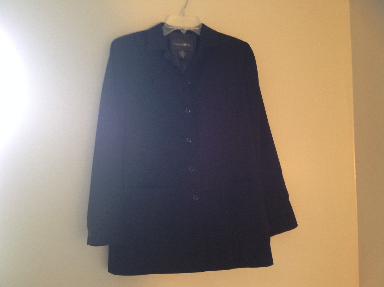 Elegant Francess and Rita Black Button Up Pocketed Blazer Front Pockets Size 6