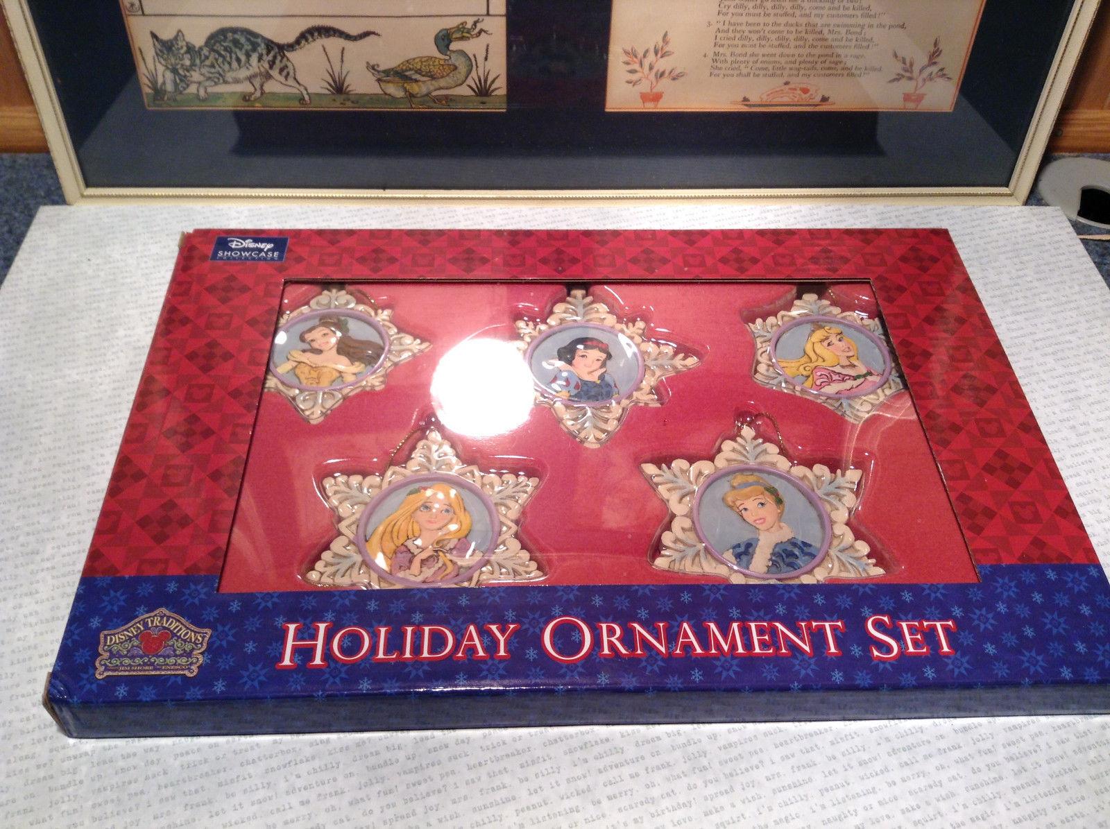 Five Piece Set Disney Traditions Holiday Ornament Set New in Disney Original Box