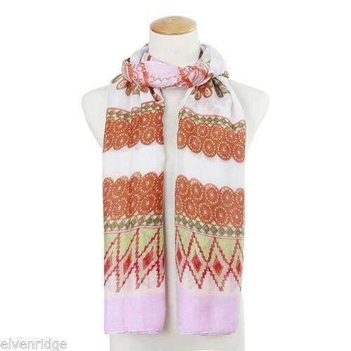 Elly Preston Tribal print style Pink Gabriella Scarf