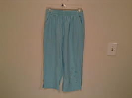 Erika Size Large Turquoise 2 pc set linen casual Cut Out Flower filigree image 8
