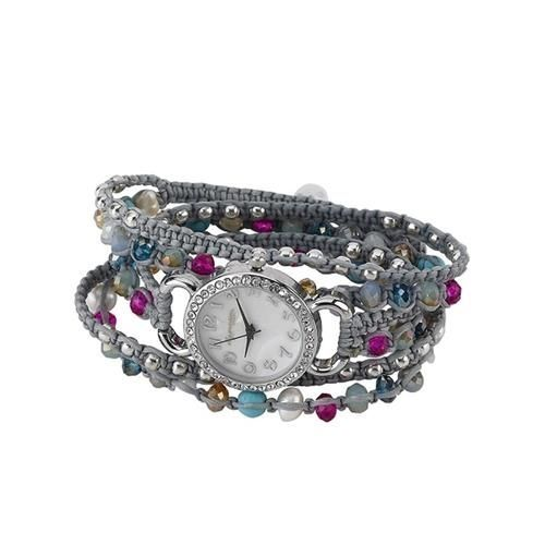 Elly Preston Multi Stone Bracelet Wrap Wrist Watch Choice of Color
