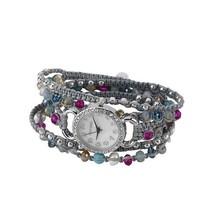 Elly Preston Multi Stone Bracelet Wrap Wrist Watch Choice of Color