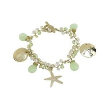 Elly Preston Coastal Charm Bracelet w Starfish Sand Dollar Sea Shell