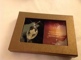Faith Spanish Fe faith cross pendant w saying in  Espanol w gift box #2 image 2
