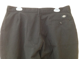 Dickies Black 3 Pocket Pleated Dress Pants Button and Zipper Closure Size 18 RG image 5