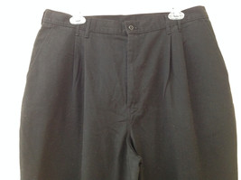 Dickies Black 3 Pocket Pleated Dress Pants Button and Zipper Closure Size 18 RG image 2