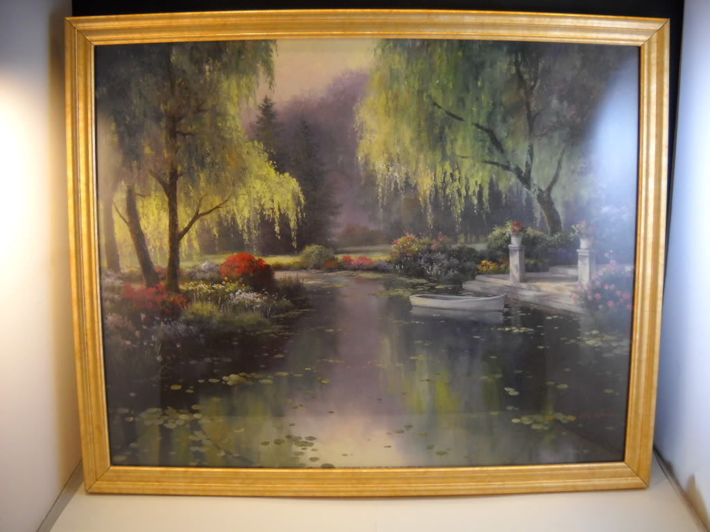 Framed Lithograph TC Chiu Painting