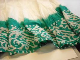 3 Piece White and Green Gopi Skirt Set image 4