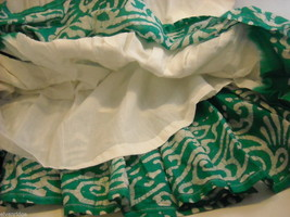 3 Piece White and Green Gopi Skirt Set image 5