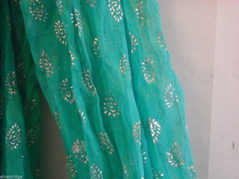 3 Piece White and Green Gopi Skirt Set image 7