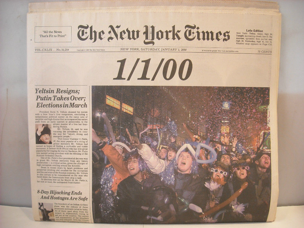 Full Issue New York York Times January 1 2000 The Millenium